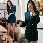 Womens Sexy Suit Dresses Double-breasted Jacket Business Office Ol Coat Hot Sale
