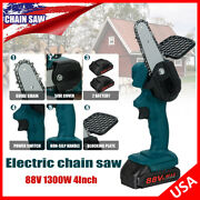 1300w 88v Mini One-hand Cordless Electric Chain Saw Wood Cutter Saw Woodworking