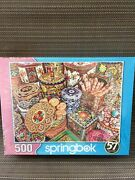 Springbok 500 Piece Jigsaw Puzzle Cookie Tins New Factory And Free Shipping