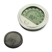 Electronic Silver Cigar Humidor Box Hygrometer Thermometer Humidity Measure Tool