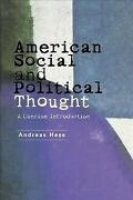 American Social And Political Thought A Reader Paperback By Hess Andreas ...