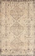 Antique Muted Abadeh Tribal Handmade Traditional Evenly Low Pile Area Rug 6x9 Ft