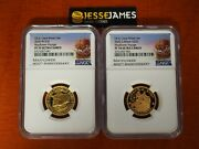 2020 W 10 And Andpound25 Proof Gold Mayflower Voyage Ngc Pf70 Ultra Cameo 2 Coin Set