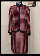 Carlisle Gorgeous Houndstooth Women's Skirt Suit Elegant Well Tailored