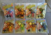 1984 Remco Mighty Crusaders Action Figure Carded Set 8x Figures
