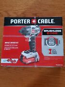 20v Porter Cable Brushless Edge Impact Driver Kit Includes 2 Batteries And Charger