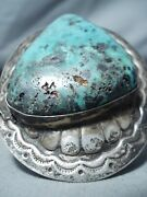 One Of The Biggest Vintage Navajo Turquoise Concho Sterling Silver Bracelet