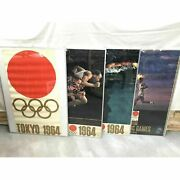 Tokyo Olympic Poster Rare Wall Decor Collectible Set Of 4 1964 Japan Sports