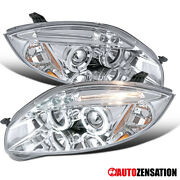 For 2006-2011 Mitsubishi Eclipse Halo Projector Headlights+led Strip Left+right