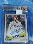 Mlb Baseball Card Shohei Ohtani Topps 2018 Gypsy Queen Autographed Card 411/mn