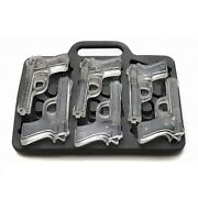 Gun Ice Cube Tray Weapon Pistol Shaped Chocolate Silicone Mould Barware