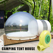 300w Inflatable Grade One Room Pvc Clear Eco Dome Camp Bubble Tent Blower 3m Us