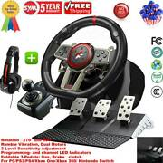 Driving Race Game Steering Wheel Brake Pedal For Pc/ps3/ps4/xbox-one/switch New