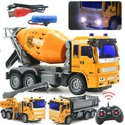 Crane Truck Cement Truck Rc Toy Childrenand039s Electric 4ch Rc Car Set Mini Engineer