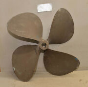 Brass Prop 22 Rh 22 Collectible Boat Propeller Four Blade Vintage 29 Lbs P2