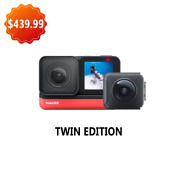 Insta360 One R New Sports Action Camera Insta 360 5.7k 360 4k 1-inch Wide Angle