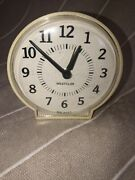 Westclox Round Analogue Alarm Clock Made In The Usa Wind Up