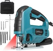 Orfeld 6.5amp Variable Speed Orbital Jigsaw With Laser And Led Light 10ft Cord