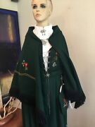Norwegian Green Festdrakt Bunad And Shawl And Lots Of 925s Silver Hat Purse Norway