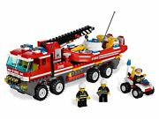 Lego 7213 City Off-road Fire Truck And Fireboat Thanks The City Fire-fighting Team