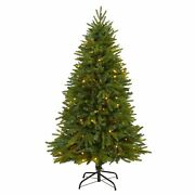 5and039 Sun Valley Fir Artificial Christmas Tree With 200 Clear Led Lights