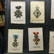 Tobacco Silks Lot 18 Cigarette College Silk Nations Military Medals Star India