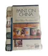 How To Paint On China With Pebeo Porcelain 150 4 17ml Paints, A Brush And Vhs