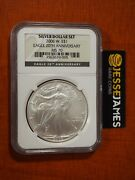 2006 W Burnished Silver Eagle Ngc Ms70 From 20th Anniversary Set Black Label