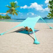 6 Person Family Sunshade Tent Beach Canopy Sails Uv Protection Shelter Camping
