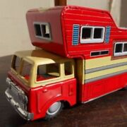 Super Rare Tinplate Toy Camper With Box Made In Japan Toys Higashi