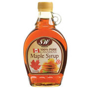 S And W Pure Canadian Maple Syrup 250ml Glass Bottle Sugar Honey Pancake Sauce