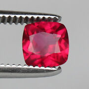 Natural Mozambique Red Ruby 1.80 Ct Perfect Square Cut Loose Certified Gemstone