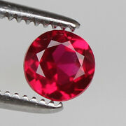 Natural Mozambique Red Ruby 1.75 Ct Perfect Round Cut Loose Certified Gemstone