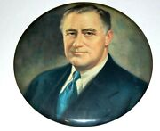 1936 Franklin D. Roosevelt 9 Inches Fdr Campaign Pin Pinback Button Political