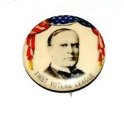 1900 William Mckinley 7/8 First Voters League Campaign Pinback Button Political