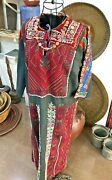 Antique Handmade Embroidered Thope Dress Traditional 1850and039s Irq El-nefnuf