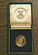 1977 Gold Proof Coin £50 Republic Of Cyprus 50 Pound Archbishop Makarios Wth Box