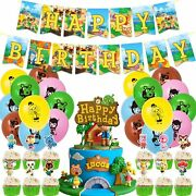 Animal Crossing Birthday Party Supplies 46pcs New Horizons Party Decorations