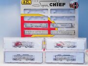 Azl Z-scale Santa Fe Super Chief 4 Powered Locomotives And 8 Special Ed Cars