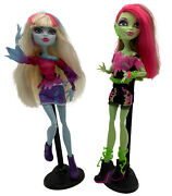 Monster High Music Festival Lot Of 2 Venus Mcflaytrap Abbey Bominable Dolls 2013