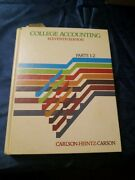 College Accounting 11th Edition Parts 1-2 1982 Hardcover Carlson-heintz-carson