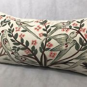 John Robshaw Textiles 18x33 Trees Branches Birds Duck Down Pillow And Cover