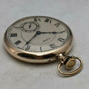 Antique Pocket Watch 1917 Works Well Illinois Gold-plated 12s 17 Jewels By M