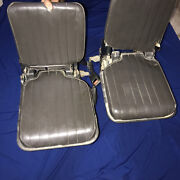 1980-1985 Datsun Pick-up King Cab 720 Rear Jump Fold Seat Pair With Seat Belt