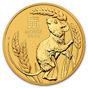 2020 100 Mouse 1oz Gold Bullion Coin In Capsule Only