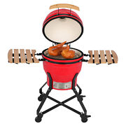 18 Kamado Grill Roaster Smoker Bbq Grill Ceramic Barbecue Grill With Side Table