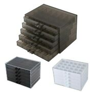 Grids Holder Storage Case Acrylic Nail Art Layer Drawer Type Manicure Tool