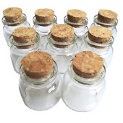 Luo House 10pcs 15ml Cute Small Cork Stopper Glass Bottle Vials Jars With Cork