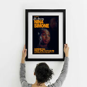 Nina Simone Live At The Carnegie Hall - Two Framed Print Options New Exclusive