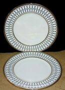 2 Wedgwood Bone China Renaissance Dinner Plates 10 3/4 Mint With Tags